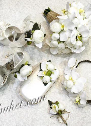 Kırık Beyaz Bahar Dalı Gelin Seti