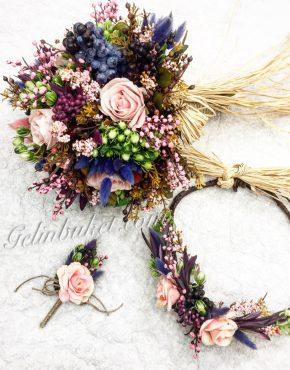 Özel Tasarım Gelin Çiçeği seti