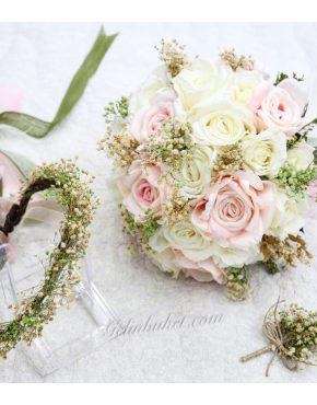 yeşil cipsolu gelin çiçeği