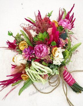 büyük boy pembe gelin çiçeği