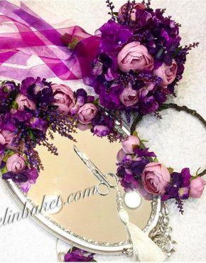 mor lila söz- nişan seti En Güzel Yüzük Tepsileri