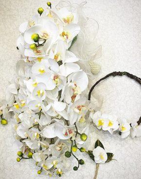 beyaz orkide gelin çiçeği gelin acı ve damat yaka çiçeği