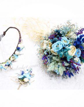 Mavi güllü Gelin Çiçeği